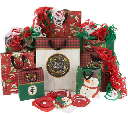 Hallmark 27pc Holiday Gift Wrap Set with Bags, Tags & Tissue Paper
