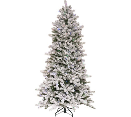 Santa's Best 6.5' Flocked 137 Function LED Smart Tree