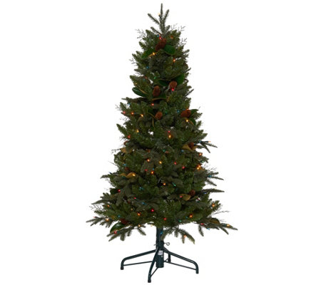 """As Is"" Bethlehem Lights 5' Sitka Spruce Christmas Tree"