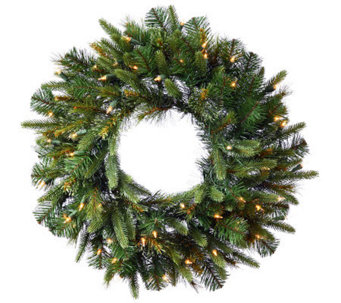 "30"" Cashmere Pine Wreath with Dura-Lit Lights by Vickerman - H281895"