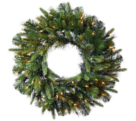 "30"" Cashmere Pine Wreath with Dura-Lit Lights by Vickerman"