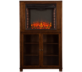 Aiden Electric Fireplace Storage Tower - H287395