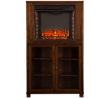 Aiden Electric Fireplace Storage Tower