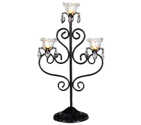 Exhart Indoor/Outdoor LED Triple Flame Candelabra