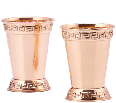 Old Dutch S/2 Solid Copper Mint Julep 12-oz Cups