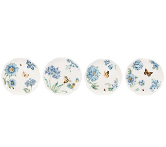 Lenox Butterfly Meadow Blue Set of 4 Dessert Plates - H288495