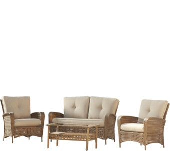 Cosco Lakewood Ranch 4-Piece Steel Woven Conversation Set - H289095