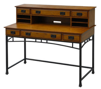 Home Styles Modern Craftsman Executive Desk and Hutch - H366495