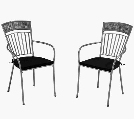Home Styles Outdoor Set of 2 Glen Rock Dining Chair w Cushion