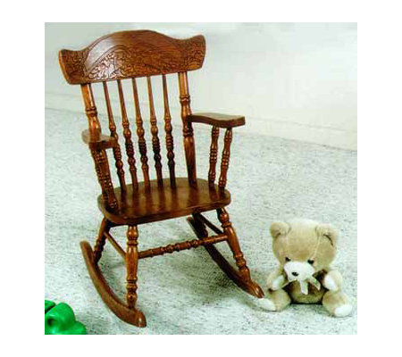 Bushline Child's Victorian Style Wood Rocker