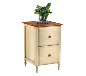 Country Cottage Solid Wood File Cabinet by Office Star - H127896