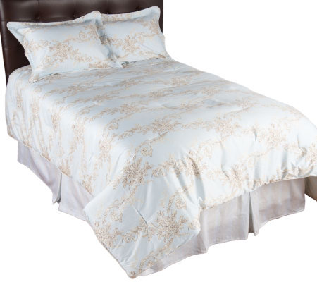Eileen West Belvedere Scroll 300TC 4-Piece QN Comforter Set