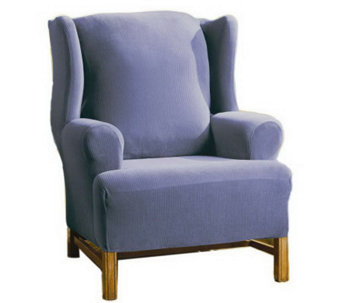 Sure Fit Fine Rib Stretch Wing Chair FurnitureCover - H170296