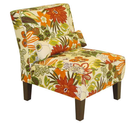 Skyline Furniture Armless Lilith Marigold Slipper Chair