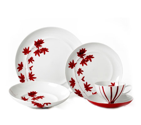 Mikasa Pure Red 5 Piece Place Setting