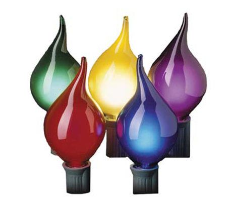 Bethlehem Lights 15ct C7 Teardrop Multi Light Set — QVC.com