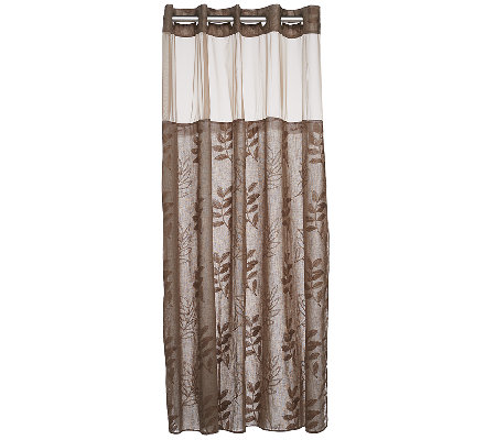 Hookless Palm Leaves Linen 3 In 1 Shower Curtain Page 1