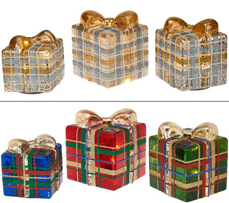 3-piece Illuminated Plaid Collection by Valerie