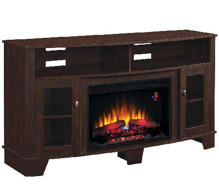 Twin Star La Salle TV and Media Mantel Fireplace with Remote