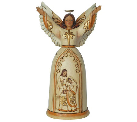 Jim Shore Heartwood Creek Ivory and Gold Nativity Angel