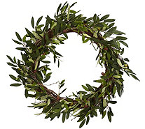 "20"" Olive Wreath by Nearly Natural - H290596"