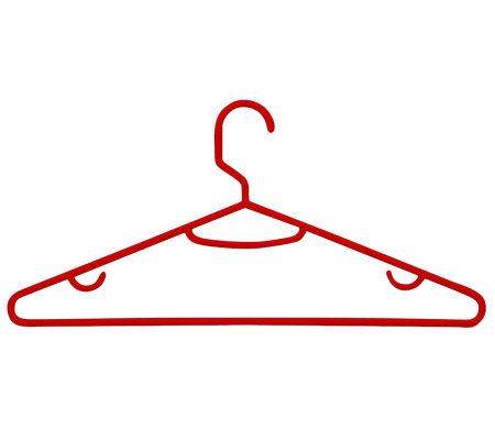Honey-Can-Do Red 60-Pack Plastic Tubular Plastic Hanger