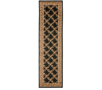 "Lyndhurst Open Floral Power Loomed 2'3"" x 16' Runner - H356796"