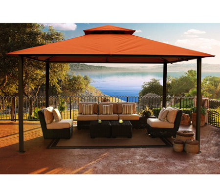 STC Valencia Vented Gazebo w/All-Weather UV Sunbrella Canopy