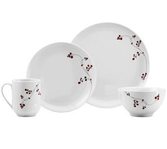 Mikasa Gourmet Basics Red Berries 16-Piece Dinnerware Set - H363996