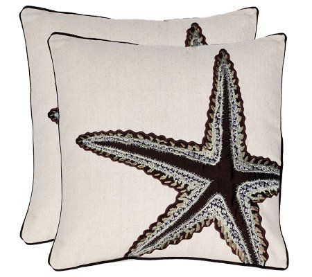 "Set of 2 18"" x 18"" Lucky Star Pillows from Safavieh"