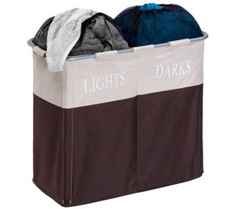 Honey-Can-Do Dual Compartment Light/Dark Hamper - H367396