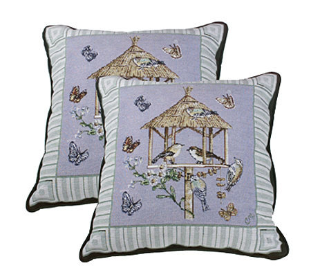 Qvc Decorative Pillows : Claire Murray Birdhouses Set of 2 Decorative Pillows ? QVC.com
