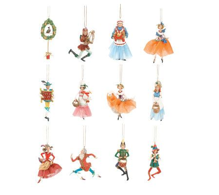 Fitz and Floyd 12 Days of Christmas Ornaments — QVC.com