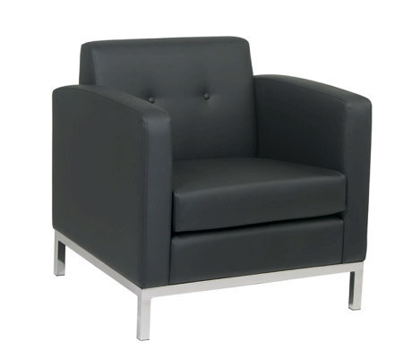 Avenue Six Wall Street Arm Chair - Black