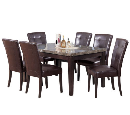 Danville Marble Table Set by Acme Furniture