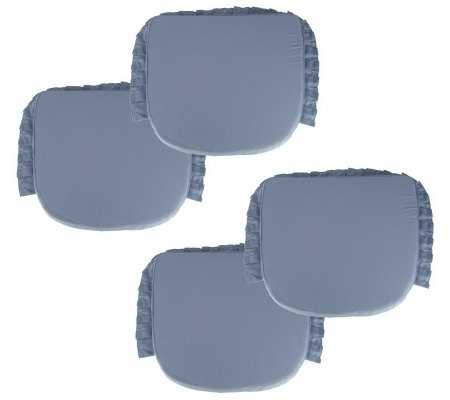 Sure Fit Set of 4 Chair Pad Cushions w/ Pleated Ruffle