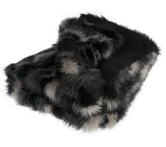 "Dennis Basso Fox Collection Faux Fur 50""x60"" Throw - H194297"