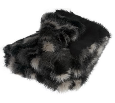 "Dennis Basso Fox Collection Faux Fur 50""x60"" Throw"
