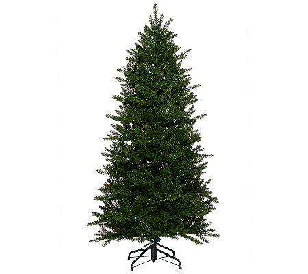ED On Air Santa's Best 7.5' Stratford Spruce Tree by Ellen DeGeneres