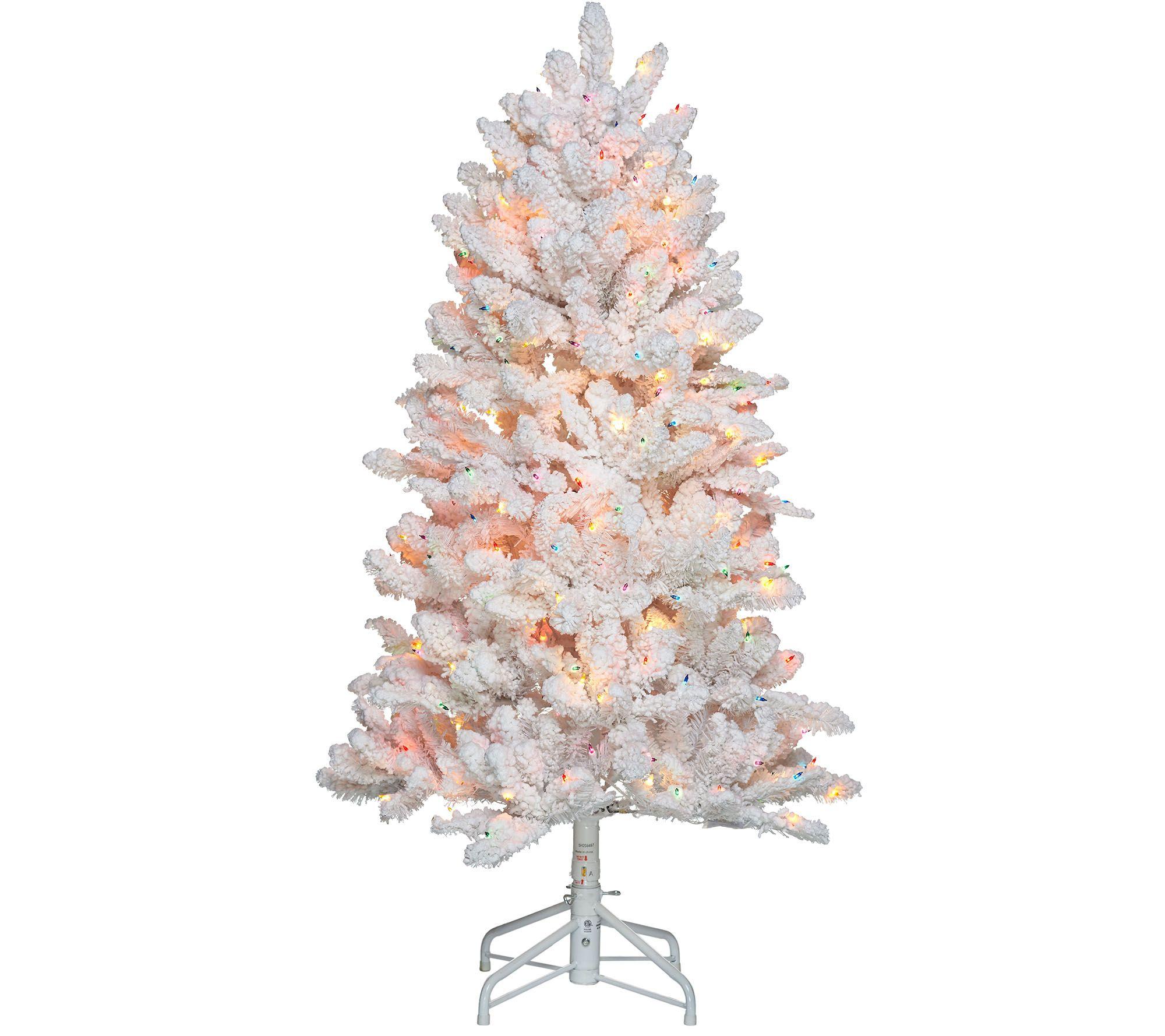 Bethlehem Lights 5' Hudson Flocked Christmas Tree - Page 1 — QVC.com