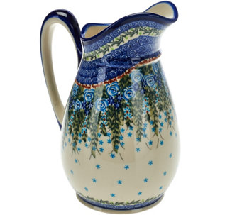 Lidia's Polish Pottery Stoneware Pitcher Olimp - H208597