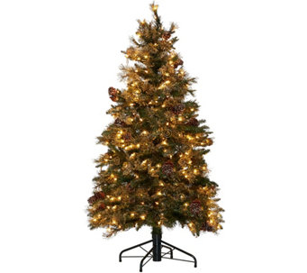 Hallmark 5' Fallen Snow Christmas Tree with Quick Set Technology - H208797