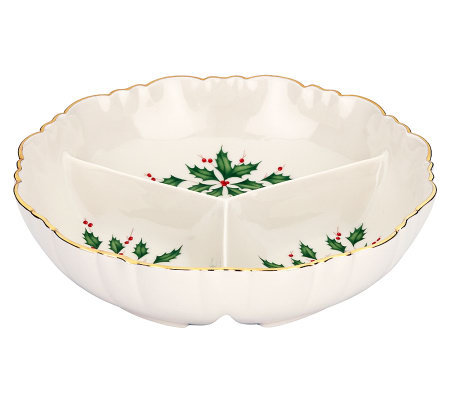Lenox Holiday Archive Divided Condiment Server