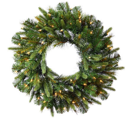 "36"" Cashmere Pine Wreath with Dura-Lit Lights by Vickerman"