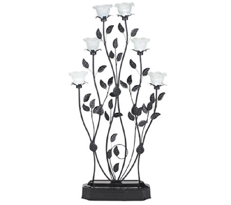 Exhart Indoor/Outdoor LED Blossom Candelabra