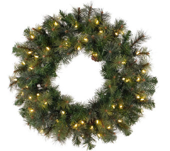 "48"" Prelit Modesto Mixed Pine Wreath by Vickerman - H287697"
