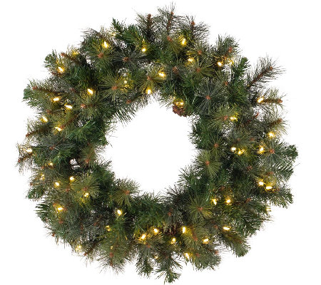 "48"" Prelit Modesto Mixed Pine Wreath by Vickerman"
