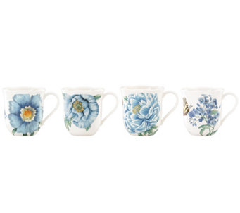 Lenox Butterfly Meadow Blue Set of 4 Mugs - H288497
