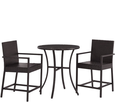 Palm Harbor 3-Piece Outdoor Wicker Bistro Set