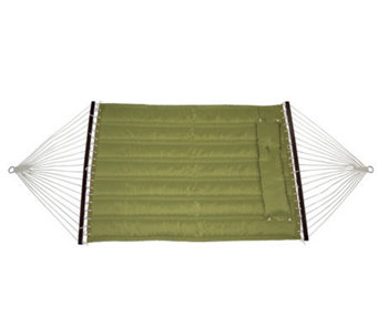 Bliss Hammocks Quilted Hammock with DetachablePillow - Sage - H363597